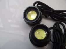 Button LED bolts projector lens white led, CNC black case stick on x2